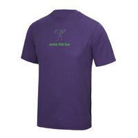 chucklr mens active t-shirt - raise the bar - purple