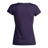 chucklr womens casual t-shirt - balanced barbs - plum