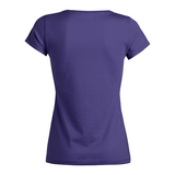 chucklr womens casual t-shirt - wee chucklr - purple