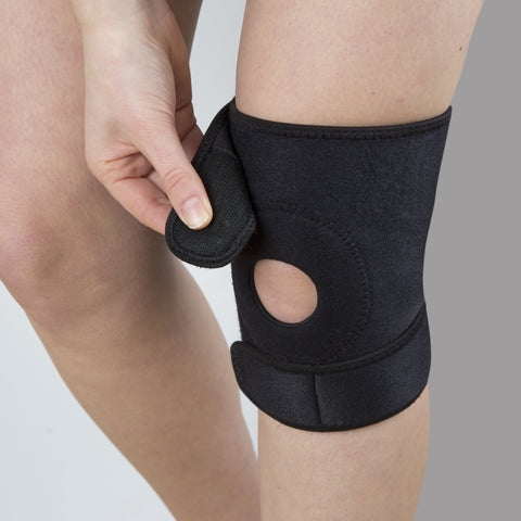 Knee Support For Joint Pain By Calibre Support, Compression Sleeve Brace Support With Open Patella - Stabilising and Recovery For Meniscus Tears, Tendonitis, Arthritis and Sports Injuries - Fully Adjustable Neoprene