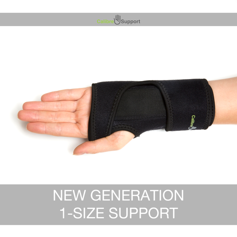 Calibre Support Wrist Support Brace. Arthritis Support Offering Instant relief for Carpal Tunnel Syndrome, Tendonitis and Wrist Pain - Adjustable Fit With Removable Splint