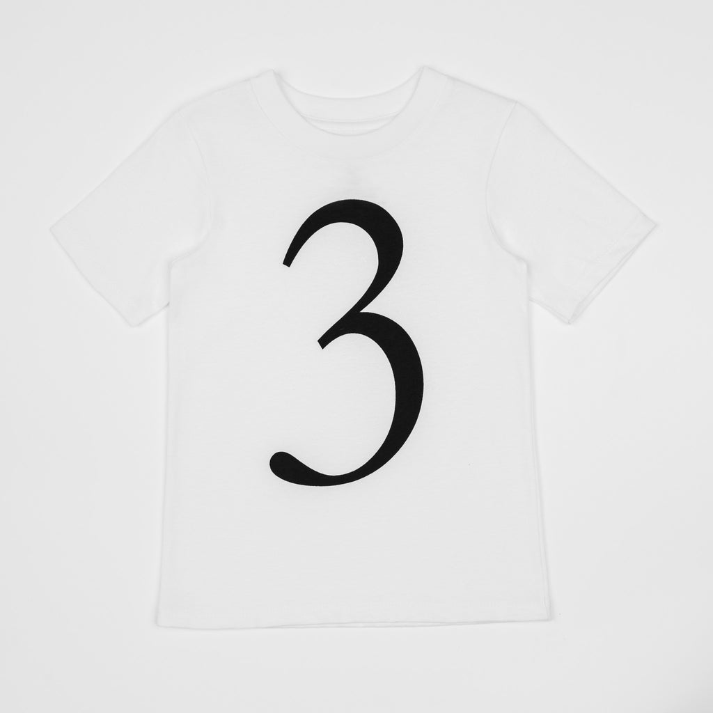 3 - white t-shirt with black print