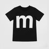 M - black t-shirt with white print