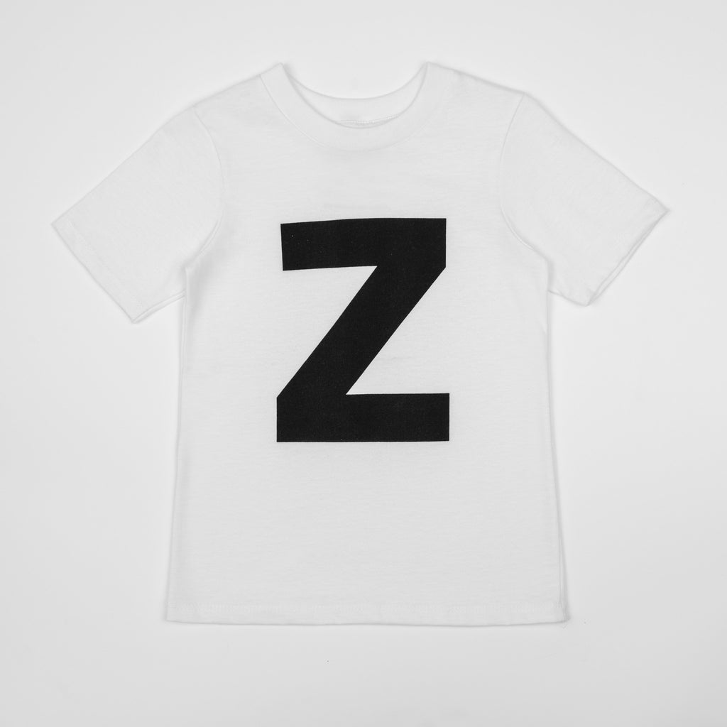 Z - white t-shirt with black print