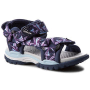 Girl's Geox Navy Lycra Velcro Sandals