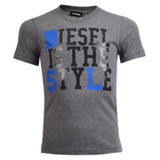 "Boy's Diesel Grey ""Diesel Is The Style"" Top"