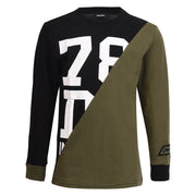 Boy's Diesel Black And Khaki Long Sleeve Top