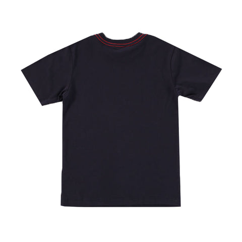 Boy's Diesel Logo Navy Tobbi Slim T-Shirt