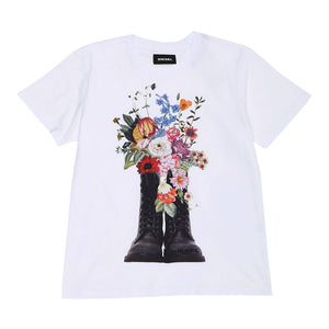 Girl's Diesel Tjerg Flower Power T-Shirt
