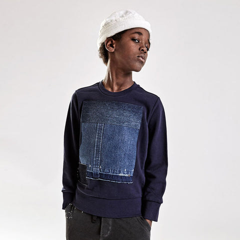 Boy's Diesel Denim Speter Sweatshirt