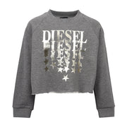Girl's Diesel Grey Logo Cropped Simona Sweatshirt