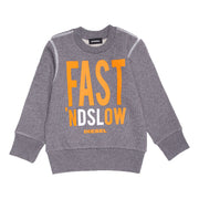 Boy's Diesel Long Sleeve Grey Top