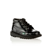 Kickers - Girls Patent Black Classic Kicks - WHIZZKID.COM