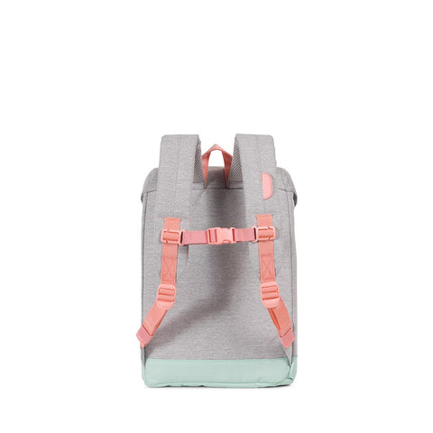 Herschel Grey and Pink Retreat Backpack
