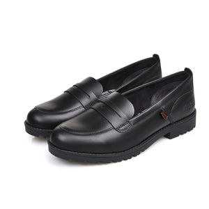 Girl's Kickers Black Lachly Loafer