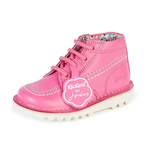 Girl's Kicker's HI Leather Kickers/Joules Pink Shoes