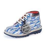 Kickers HI Leather Kickers for Joules Shark Blue Shoes