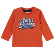 Baby Boy's Levi's Orange Long Sleeve T-Shirt