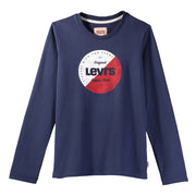 Boy's Levi's Long Sleeve T-Shirt Fabio Dark Blue