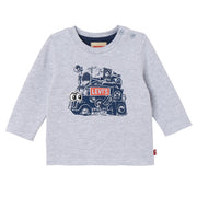 Baby Boy's Levi's Long Sleeve T-Shirt Truck Grey Chine