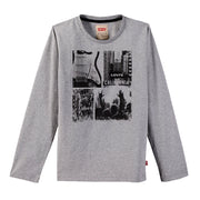 Boy's Levi's Long Sleeve T-Shirt City Grey Chine T-Shirts