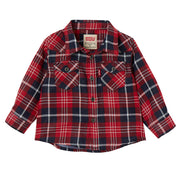 Baby Boy's Levi's Red Long Sleeve Check Shirt