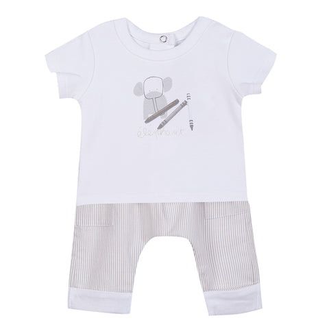 Boy's Absorba T-shirt and Trouser Set Cream