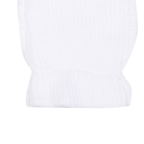 Baby's Absorba White Scratch Mittens