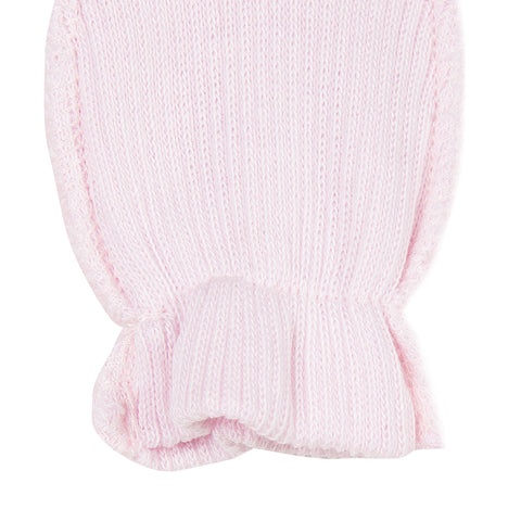 Baby's Absorba Pink Scratch Mittens