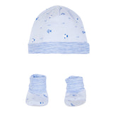 Baby's Absorba Hat and Bootie Fish Set