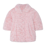 Girl's Mayoral Rosette Coat Old pink
