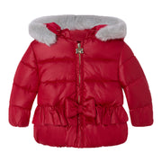 Girl's Mayoral Coat Carmine Red