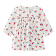 Girl's Petit Bateau Madame White/Red Dress