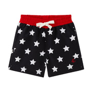 Boy's Petit Bateau Navy/Red Marius Swim Shorts