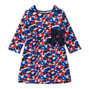 Girl's Petit Bateau Manuela Red/Blue Dress