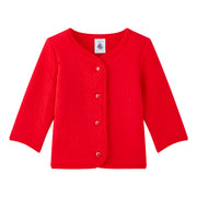Girl's Petit Bateau Manolya Red Cardigan