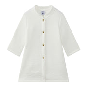 Girl's Petit Bateau White Moby Cardigan