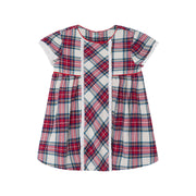 Girl's Mayoral Plaid Dress Carmine Red