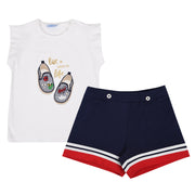 Girl's Mayoral Shoes Top & Shorts Set