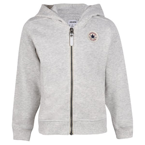Girl's Converse French Terry Zip Sweat Lunar Rock Heather