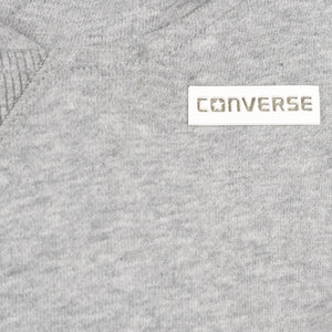 Girl's Converse Cropped Po Hoodie Dark Grey Heather