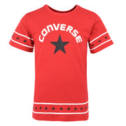 Girl's Converse Star Trim Tee  Enamel Red