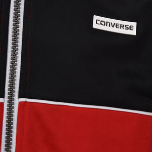 Girl's Converse Cropped Tricot Warm Up Enamel Red
