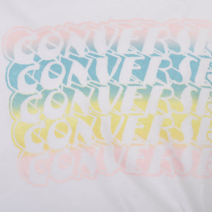 Girl's Converse Asymmetrical Tie Front Tee White