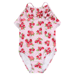 Girl's Mayoral Cherry Swimsuit