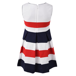 Girl's Mayoral Red, White & Blue Dress