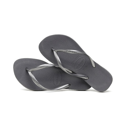 Girl's Havaianas Steel Grey Slim Flip Flops