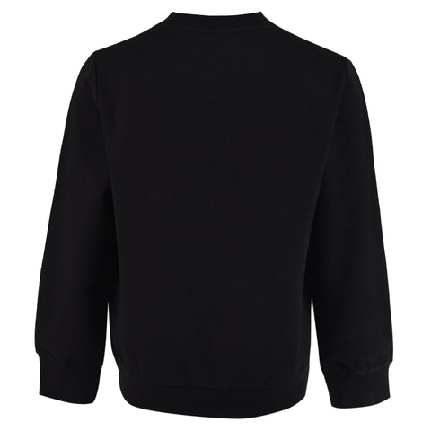 Boy's Lanvin Logo Black Sweatshirt