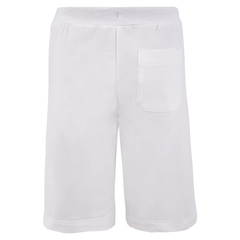 Boy's Lanvin White Jersey Shorts With Zip Pockets