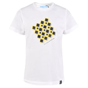 Boy's Lanvin White T-Shirt with Geometry Print
